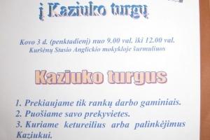 Kaziuko turgus Kuršėnų Stasio Anglickio mokykloje (2017-03-03)